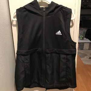 Adidas black Climalite hooded vest